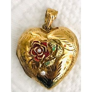 Jewelry - 925 Sterling Silver Etched Heart Locket Pendant